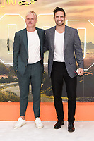 """Jamie Lang and Spencer Matthews<br /> arriving for the """"Once Upon a Time... in Hollywood"""" premiere, Leicester Square, London<br /> <br /> ©Ash Knotek  D3514  30/07/2019"""