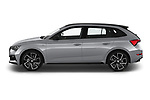 Car Driver side profile view of a 2020 Skoda Scala Monte-Carlo 5 Door Hatchback Side View