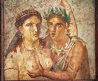 1 cent AD Roman Mythical Erotic  fresco from a house in Pompeii. Naples Archaological Museum inv no: 110590