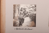 BNPS.co.uk (01202 558833)<br /> Pic: C&TAuctions/BNPS<br /> <br /> Pictured: Troops pose for pictures in the trenches. <br /> <br /> Fascinating previously unseen World War One photos showing the conflict from the German perspective have come to light 103 years on.<br /> <br /> Major Hans Rudloff, a distinguished artillery officer, took hundreds of images of some of the major Western Front battles.<br /> <br /> There are scenes of destruction on the Verdun and at Cambrai, as well as snapshots of captured British soldiers on the Somme in the early days of the German Spring Offensive in March 1918.