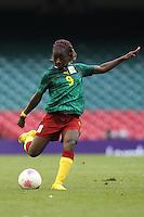 Madeleine NGONO MANI of Cameroon - Brazil Women vs Cameroon Women - Womens Olympic Football Tournament London 2012 Group E at the Millenium Stadium, Cardiff, Wales - 25/07/12 - MANDATORY CREDIT: Gavin Ellis/SHEKICKS/TGSPHOTO - Self billing applies where appropriate - 0845 094 6026 - contact@tgsphoto.co.uk - NO UNPAID USE.