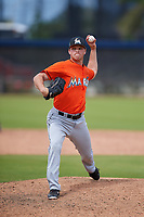 Miami Marlins pitcher Jeff Kinley (83) during a Minor League Spring Training game against the Washington Nationals on March 28, 2018 at FITTEAM Ballpark of the Palm Beaches in West Palm Beach, Florida.  (Mike Janes/Four Seam Images)