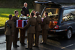 © Joel Goodman - 07973 332324 .15/12/2011 . Leeds , UK . The funeral of Rifleman Sheldon Steel (20), of the 5th Battalion The Rifles , takes place at St Peter's Church in Bramley . Steel was killed by an explosion in Helmand Province , Afghanistan , whilst on foot patrol on November 27th 2011 . Photo credit: Joel Goodman