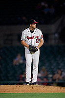 Rochester Red Wings pitcher DJ Baxendale (55) during an International League game against the Scranton/Wilkes-Barre RailRiders on June 24, 2019 at Frontier Field in Rochester, New York.  Rochester defeated Scranton 8-6.  (Mike Janes/Four Seam Images)