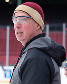 Jerry York (BC - Head Coach) - The Boston College Eagles practiced on the rink at Fenway Park on Friday, January 6, 2017.