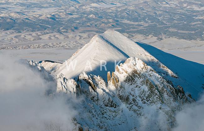 Crestone and Humboldt peaks, Colorado. March 2014. 80952