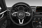 Car pictures of steering wheel view of a 2017 Mazda MX-5-RF Club 2 Door Targa Steering Wheel