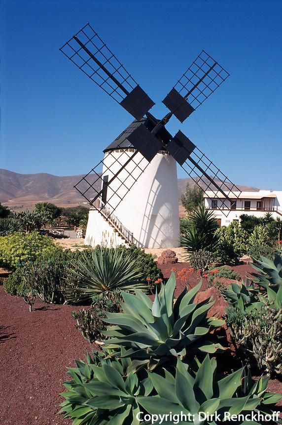 Spanien, Kanarische Inseln, Fuerteventura, Mühle in Antigua Pueblo Majorero