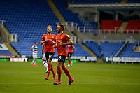 15th September 2020; Madejski Stadium, Reading, Berkshire, England; English Football League Cup, Carabao Cup Football, Reading versus Luton Town;  Jordan Clarke scores for Luton Town.