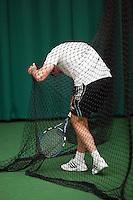 28-08-11, Tennis, Amstelveen, NVK, Nederlandse Veteranen Kampioenschappen, Gevangen in het net