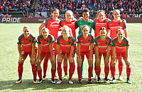 Portland, OR - Saturday October 07, 2017: Portland Thorns FC starting 11 during a National Women's Soccer League (NWSL) semifinals match between the Portland Thorns FC and the Orlando Pride at Providence Park.
