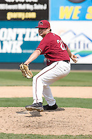 July 6, 2008:  The Yakima Bears' Bryan Woodall throws in relief during a Northwest League game against the Everett AquaSox at Everett Memorial Stadium in Everett, Washington.