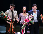 Jeremy Jordan, Kerry Washington and Steven Pasquale during the Broadway Opening Night Curtain Call for 'AMERICAN SON' at the Booth Theatre on November 4, 2018 in New York City.