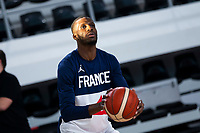 22nd February 2021, Podgorica, Montenegro; Eurobasket International Basketball qualification for the 2022 European Championships, England versus France;  Lahaou Konate of France in warm up