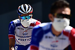 Thibaut Pinot (FRA) Groupama-FDJ at sign on before the start of Stage 7 of Tour de France 2020, running 168km from Millau to Lavaur, France. 4th September 2020.<br /> Picture: ASO/Alex Broadway | Cyclefile<br /> All photos usage must carry mandatory copyright credit (© Cyclefile | ASO/Alex Broadway)