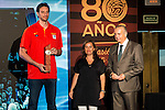 Pau Gasol during the 80th Aniversary of the National Basketball Team at Melia Castilla Hotel, Spain, September 01, 2015. <br /> (ALTERPHOTOS/BorjaB.Hojas)
