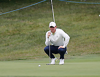 4th July 2021; Mount Juliet Golf Club, Kilkenny, Ireland; Dubai Duty Free Irish Open Golf, Day Four; Rory Mcilroy of Northern Ireland lines up his putt on the 7th green