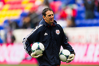 New York Red Bulls goalkeeper coach Rafael Gonzalez. The New York Red Bulls and D. C. United played to a 0-0 tie during a Major League Soccer (MLS) match at Red Bull Arena in Harrison, NJ, on March 16, 2013.