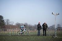 Gianni Siebens (BEL/Marlux Bingoal) not getting the attention he deserves...<br /> <br /> U23 race<br /> Belgian National Cyclocross Championships 2018 / Koksijde