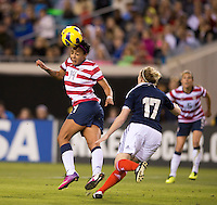 Sydney Leroux, Frankie Brown.  The USWNT defeated Scotland, 4-1, during a friendly at EverBank Field in Jacksonville, Florida.