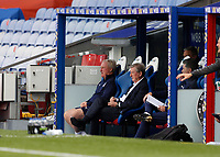 5th September 2020; Selhurst Park, London, England; Pre Season Friendly Football, Crystal Palace versus Brondby; Crystal Palace Manager Roy Hodgson looks out from the dugout