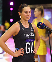 Ameliaranne Ekenasio of Silver Ferns talks to Sky after the Constellation Cup international netball series match between New Zealand Silver Ferns and Australian Diamonds at Christchurch Arena in Christchurch, New Zealand on Tuesday, 2 March 2021. Photo: Martin Hunter / lintottphoto.co.nz