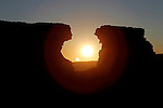 Atardecer en el Castillo de Ayub, Calatayud, Zaragoza, Aragon, Espana.Sunset at the Castell of Ayub, Calatayud, Zaragoza, Aragon, Spain.February 20, 2012. (ALTERPHOTOS/ALFAQUI/Acero)