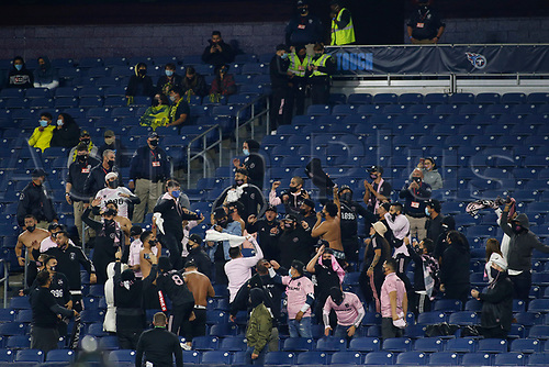 20th November 2020, Nashville, TN, USA;  Inter Miami fans mass as they cheer during the MLS Cup Playoffs Eastern Conference Play-In game between Nashville SC and Inter Miami, November 20, 2020 at Nissan Stadium