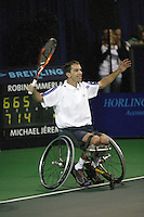 18-11-06,Amsterdam, Tennis, Wheelchair Masters, Robin Ammerlaan wins the semifinal