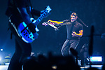 © Joel Goodman - 07973 332324 . 28/10/2017 . Manchester , UK . Robert Trujillo . Metallica perform at the Manchester Arena . Photo credit : Joel Goodman