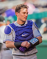 29 July 2017: Colorado Rockies catcher Tony Wolters in action against the Washington Nationals at Nationals Park in Washington, DC. The Rockies defeated the Nationals 4-2 in the first game of their 3-game weekend series. Mandatory Credit: Ed Wolfstein Photo *** RAW (NEF) Image File Available ***