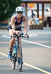 MIDDLEBURY, CT 070721JS19 Cassandra Maximenko of Watertown competes in the 35th annual Pat Griskuus Triathlon held Wednesday at Quassy Amusement Park in Middlebury. <br /> Jim Shannon Republican American