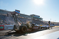 Jul 26, 2019; Sonoma, CA, USA; NHRA top fuel driver Scott Palmer during qualifying for the Sonoma Nationals at Sonoma Raceway. Mandatory Credit: Mark J. Rebilas-USA TODAY Sports