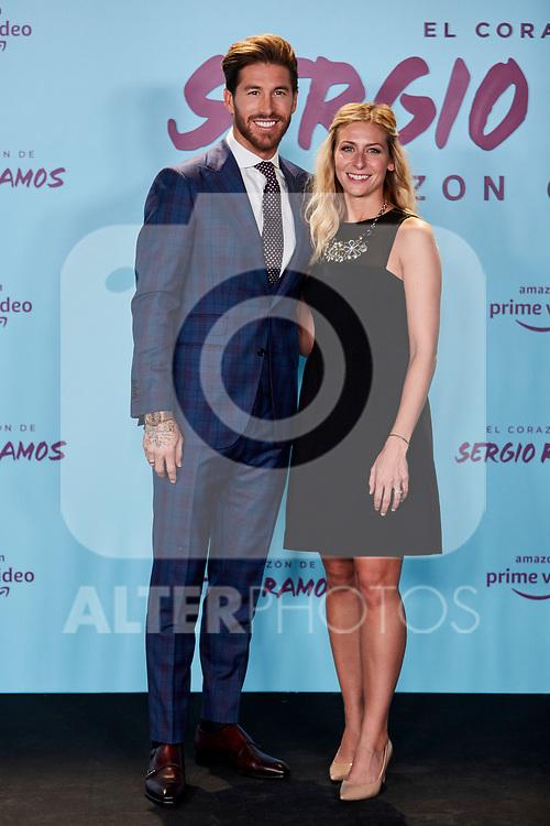 "Sergio Ramos and Georgia Brown attends to ""El Corazon De Sergio Ramos"" premiere at Reina Sofia Museum in Madrid, Spain. September 10, 2019. (ALTERPHOTOS/A. Perez Meca)"
