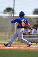 New York Mets Eudor Garcia (24) during a minor league spring training game against the Miami Marlins on March 30, 2015 at the Roger Dean Complex in Jupiter, Florida.  (Mike Janes/Four Seam Images)
