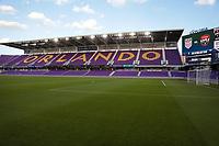 ORLANDO CITY, FL - JANUARY 31: An empty Exploria stadium before a game between Trinidad and Tobago and USMNT at Exploria stadium on January 31, 2021 in Orlando City, Florida.