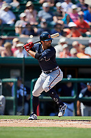Atlanta Braves left fielder Ryan LaMarre (68) at bat during a Grapefruit League Spring Training game against the Detroit Tigers on March 2, 2019 at Publix Field at Joker Marchant Stadium in Lakeland, Florida.  Tigers defeated the Braves 7-4.  (Mike Janes/Four Seam Images)