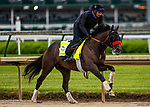 April 29, 2021: Hot Rod Charlie gallops in preparation for the Kentucky Derby at Churchill Downs in Louisville, Kentucky on April 29, 2021. EversEclipse Sportswire/CSM