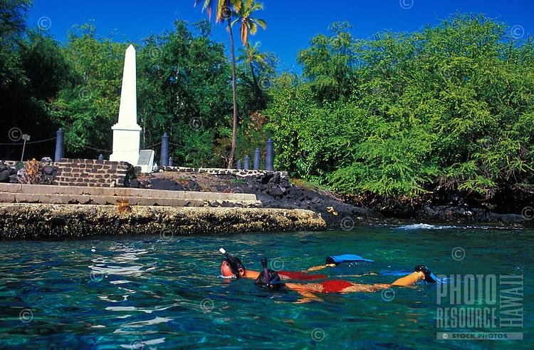 snorkeling near the Captain Cook Monument, Kealakekua Bay