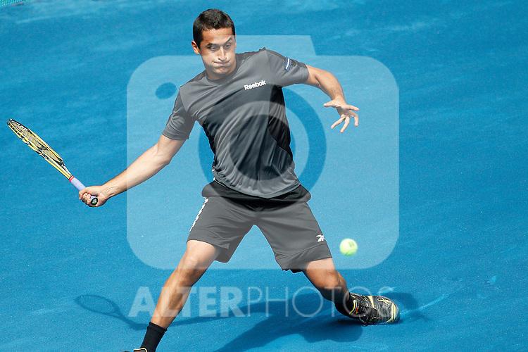 Nicolas Almagro during Mutua Madrid Open 2012 match on may 7th 2012...Photo: Cesar Cebolla / ALFAQUI