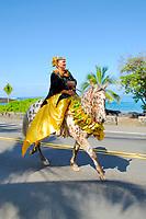 Oahu island representatives, King Kamehameha Day Parade, Kailua Kona, The Big Island of Hawaii