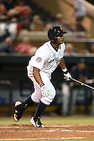 Lakeland Flying Tigers third baseman Francisco Martinez (20) at bat during a game against the Tampa Yankees on April 9, 2015 at Joker Marchant Stadium in Lakeland, Florida.  Tampa defeated Lakeland 2-0.  (Mike Janes/Four Seam Images)