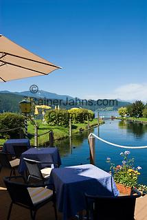 AUT, Oesterreich, Kaernten, Millstaetter See, Doebriach: Romantik Hotel Seefischer, Cafe, Restaurant   AUT, Austria, Carinthia, Lake Millstatt, Doebriach: Romantik Hotel Seefischer, Cafe, Restaurant
