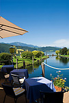 AUT, Oesterreich, Kaernten, Millstaetter See, Doebriach: Romantik Hotel Seefischer, Cafe, Restaurant | AUT, Austria, Carinthia, Lake Millstatt, Doebriach: Romantik Hotel Seefischer, Cafe, Restaurant