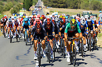 LE GRAND BORNAND, FRANCE - July 02 : COLBRELLI Sonny (ITA) of BAHRAIN VICTORIOUS  during stage 8 of the 108th edition of the 2021 Tour de France cycling race, a stage of 150,8 kms between Oyonnax and Le Grand Bornand on July 2, 2021 in Le Grand Bornand, France, 2/07/2021