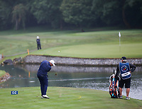 3rd July 2021; Mount Juliet Golf Club, Kilkenny, Ireland; Dubai Duty Free Irish Open Golf, Day Three; Shane Lowery of the Republic of Ireland takes his third shot after going into the water on the 3rd hole