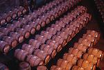 Barrels at Chappellet winery