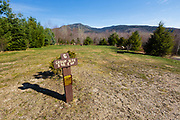 Scenic view of mountain range from Osceola Vista Campground in Waterville Valley, New Hampshire during the spring months. This area was logged during the Mad River Logging Era.