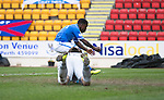 St Johnstone v Inverness Caledonian Thistle....22.02.14    SPFL<br /> Nigel Hasselbaink reacts after missing an empty net<br /> Picture by Graeme Hart.<br /> Copyright Perthshire Picture Agency<br /> Tel: 01738 623350  Mobile: 07990 594431