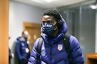 SWANSEA, WALES - NOVEMBER 12: United States men's national team arrives at Liberty stadium before a game between Wales and USMNT at Liberty Stadium on November 12, 2020 in Swansea, Wales.